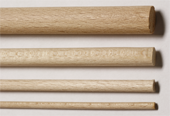 Beech Round Rods