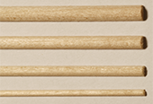 Basswood Halfround Rods