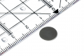 Disc magnet neodymium, silver dm 10 mm, h = 0.6 mm, N30, 20 pcs