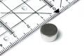 Scheibenmagnet Neodym, silber dm 10 mm, h =5,0 mm, N42, 8 Stk