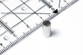 Stabmagnet Neodym, silber dm 5 mm, h =10 mm, N45, 8 Stk