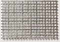 Aluminium perforated sheet, square holed 2,0 x 2,0
