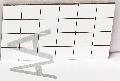 Polystyrol verspiegelt silber, Karo 10 x 10