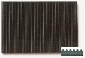 Gummi Feinriefenmatte schwarz 3,0 x 240 x 400  w = 3