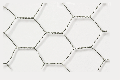 Hexagonal steel wire netting, 'chicken wire', mw = 25