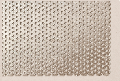 Aluminium perforated sheet, round holed, staggered pitch ø = 1,1