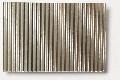 Micro-corrugated aluminium sheet, stamped through, coarse