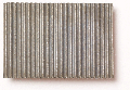 Micro-corrugated lead sheet, stamped through, coarse