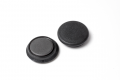 Rundmagnet aus Ferrit mit Kunststoffkappe, dm 24 mm, h =6,5 mm, Haftkraft 3 N, schwarz, 10 Stk
