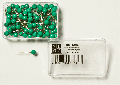 Pins, dark green heads ø = 5,0  unit = 100