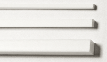 Polystyrol Quadratrohre weiß 7,9 x 7,9 / 6,3 x 6,3