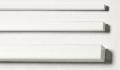 Polystyrol Quadratrohre weiß 9,5 x 9,5 / 7,9 x 7,9