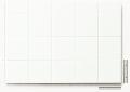 Polystyren strukturovaná deska bílá, r =  9,5 čtvercový rastr