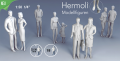 "Detailed figures white 1:50, standing, ""Hermoli"""