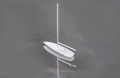Sailboat, without canvas 1: 100, white