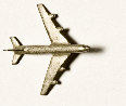 Flugzeug Zinnguss silbrig  L = 35  ca. 1:1000