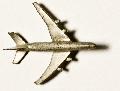 Flugzeug Zinnguss silbrig  L = 53  ca. 1:1000