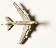 Lietadlo cínový odliatok striebristý  d = 27  cca 1:2000