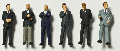Detailed figures coloured 1:100, business men