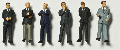 Detailed figures coloured 1:200, business men