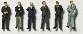 Detailed figures coloured 1:200, business men