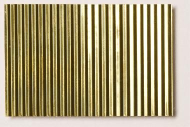 Micro Corrugated Brass Sheet Stamped Through Coarse