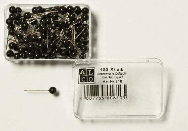 Špendlíky, čierne hlavičky ø =  5,0  BJ = 100