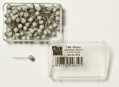 Gombostűk, szürke fejjel  ø = 5,0  csomagolási egység = 100