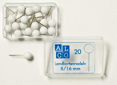 Gombostűk, fehér fejjel  ø = 8,0  csomagolási egység = 20
