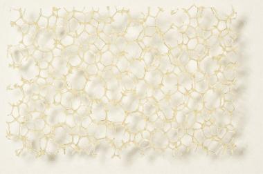 PU Schaumstoff beige, grob 15,0 x 300 x 400