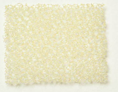 PU pěna béžová, střední 5,0 x 300 x 400