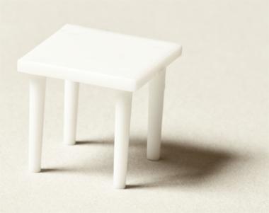 quadratischer tisch wei 1 50 online kaufen archidelis. Black Bedroom Furniture Sets. Home Design Ideas