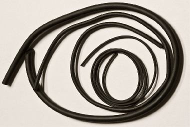 Moosgummischnur schwarz ø = 2,0