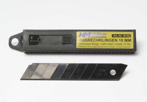 schwarze Abbrechklingen 18 mm