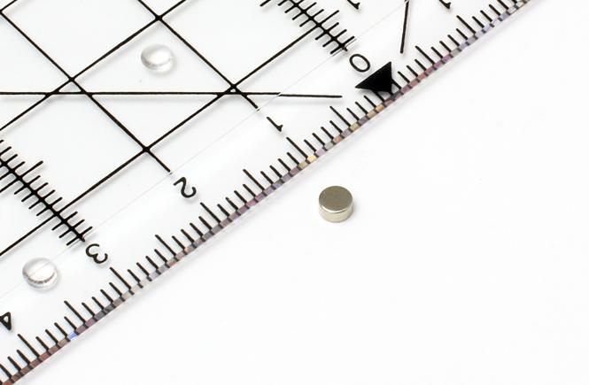 Scheibenmagnet Neodym, silber dm 3 mm, h =1,5 mm, N48, 24 Stk