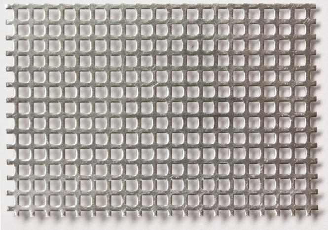 Alumínium perforált lemez négyzetlyukakkal 2,0 x 2,0