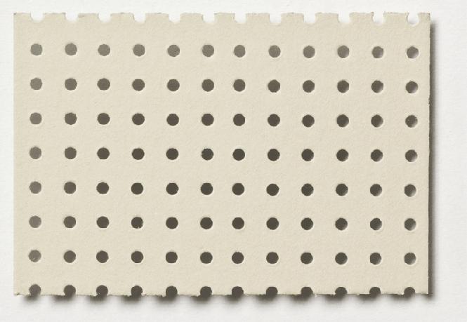 Dierovaný kartón svetlosivý 350 x 500