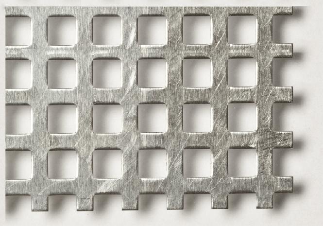 Aluminium Quadratloch 5,0 x 5,0
