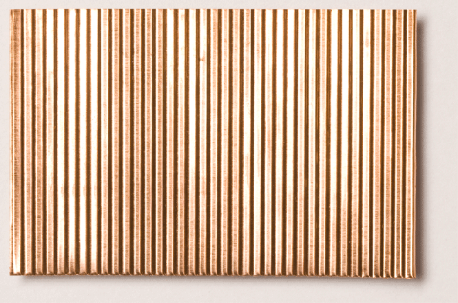 Micro Corrugated Copper Sheet Stamped Through Fine
