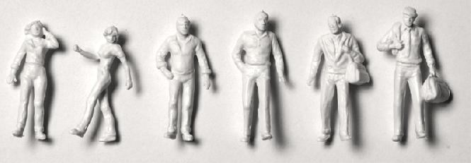 Detailed figures white 1:200, walking