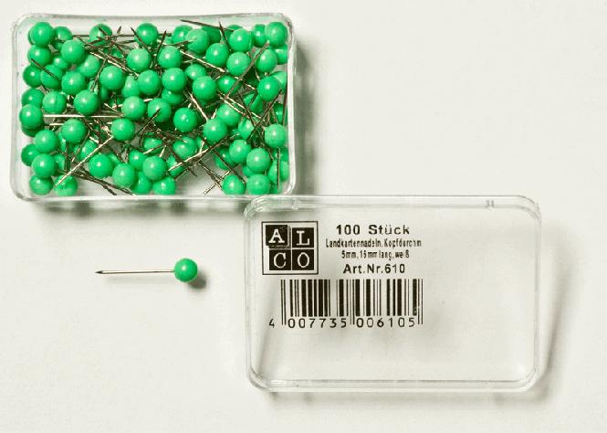 Špendlíky, světle zelené hlavičky  ø = 5,0   PJ = 100