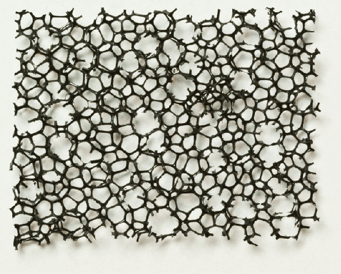 PU Schaumstoff schwarz, grob 5,0 x 300 x 400