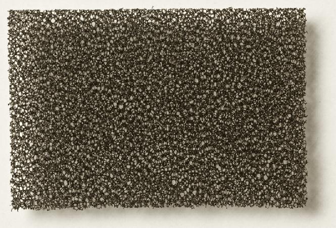 PU Schaumstoff schwarz, fein 5,0 x 300 x 400