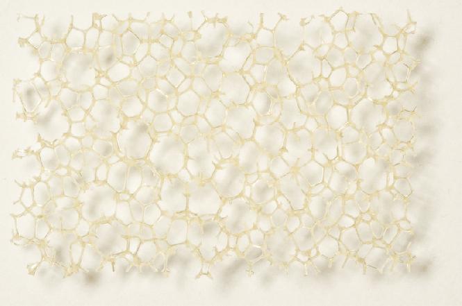 PU pěna béžová, hrubá 20,0 x 300 x 400