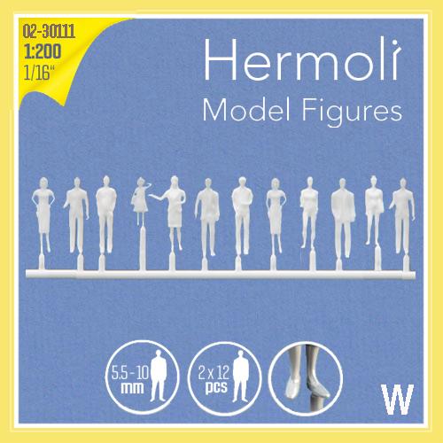 "Detailed figures white 1:200, standing, ""Hermoli"""