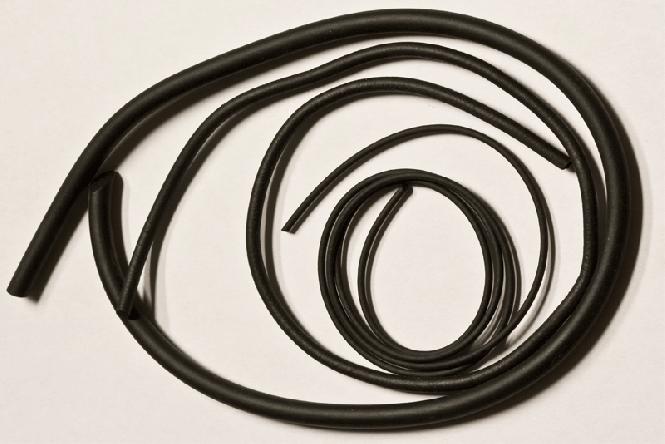 Šnúra z mäkkej penovej gumy čierna ø = 6,0