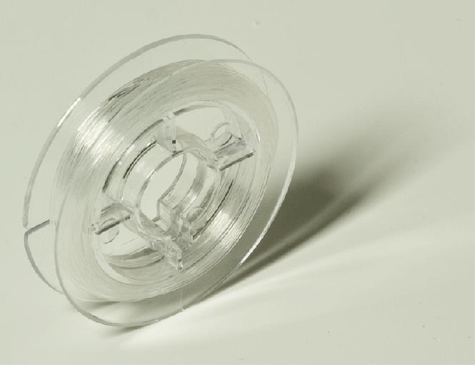 Gummifaden klar transparent ø = 0,6