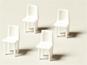 Stühle weiß 1:50