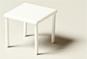 Quadratischer Tisch weiß 1:25
