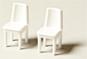 Stühle weiß 1:25